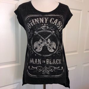 Rock And Republic Johnny Cash Metallic Shirt
